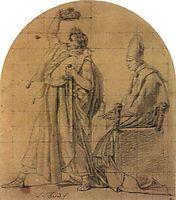 Napoleon Holding Josephine-s Crown, 1805, david