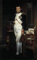 Napoleon in his Study, 1812, david