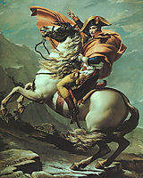 Napoleon Crossing the Alps at the St Bernard Pass, 20th May 1800, 1801, david