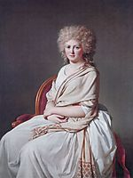 Portrait of Anne Marie Louise Thélusson, Countess of Sorcy, 1790, david