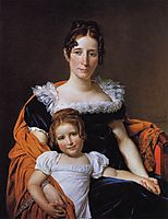 Portrait of the Comtesse Vilain XIIII and her Daughter, 1816, david