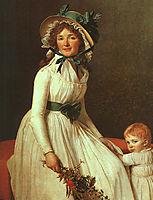 Portrait of Madame Seriziat, 1795, david