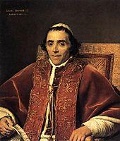 Portrait of Pope Pius VII, 1805, david
