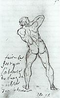 Study after Michelangelo, 1790, david
