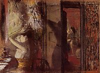 The Actresses Dressing Room, c.1885, degas