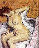 After the bath, 1884, degas