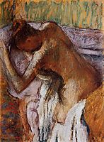 After the Bath, c.1910, degas