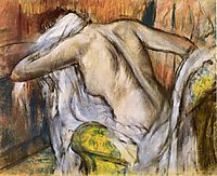 After Bathing, Woman Drying Herself, 1892, degas