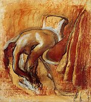 After Bathing, Woman Drying Herself, c.1905, degas