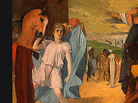 Alexander and Bucephalus (detail), 1861, degas