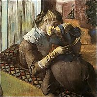 At the Milliner-s, 1883, degas