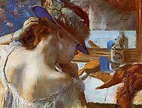 At the Mirror, c.1886, degas