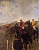At the Races, 1872, degas