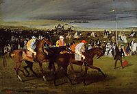 At the Races. the Start, 1862, degas