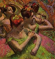 Ballerinas Adjusting Their Dresses, c.1899, degas