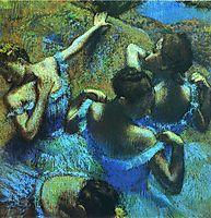 Blue Dancers, degas