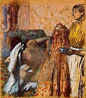 Breakfast after Bath, c.1898, degas