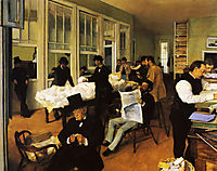 A Cotton Office in New Orleans, 1873, degas