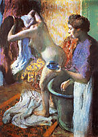 The Cup of Tea (Breakfast after Bathing), 1883, degas
