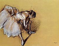 Dancer Adjusting Her Sandel, c.1890, degas