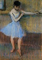 Dancer in Blue at the Barre, c.1889, degas