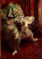 Dancer in Green Tutu, c.1885, degas
