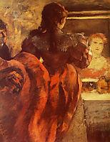Dancer in her dressing room, 1879, degas