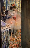 Dancer in Her Dressing Room, c.1880, degas