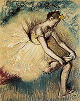 Dancer Putting on Her Slipper, 1896, degas