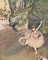 Dancer with a bouquet of flowers (The Star of the ballet), degas