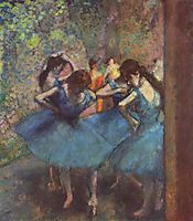 Dancers in Blue, 1895, degas