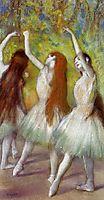 Dancers in Green, c.1878, degas
