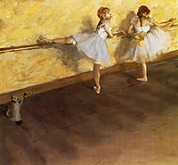 Dancers Practicing at the Barre, 1877, degas
