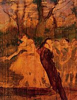 Dancers on the Scenery, c.1889, degas