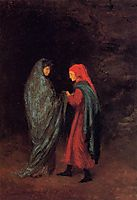 Dante and Virgil at the Entrance to Hell, 1858, degas