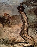 David and Goliath, c.1863, degas