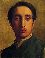 Degas in a Green Jacket, 1856, degas