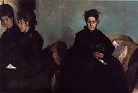 The Duchess de Montejasi and her daughters Elena and Camilla, c.1876, degas