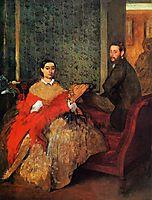 Edmondo and Therese Morbilli, 1866, degas