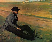 Eugene Manet, 1874, degas