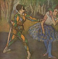 Harlequin and Colombina, 1886, degas
