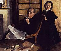Henri Degas and his Niece Lucie Degas, 1876, degas