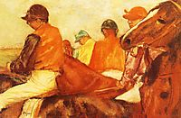 Jockeys, 1881, degas