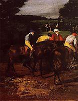 Jockeys at Epsom, 1862, degas