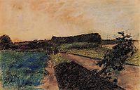 Landscape on the Orne, c.1884, degas