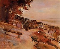 Landscape by the Sea, c.1898, degas