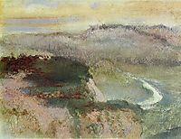 Landscape with Hills, 1890, degas