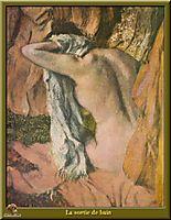 Leaving the Bath, 1885, degas
