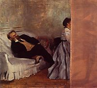M. and Mme Edouard Manet, c.1869, degas