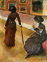 Mary Cassatt at the Louvre, c.1880, degas